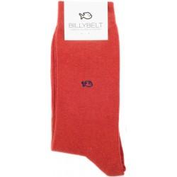 Chaussettes Rouge Brique homme