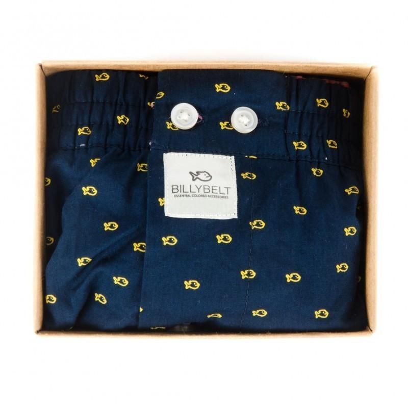 Caleçon coton Blue Yellow homme