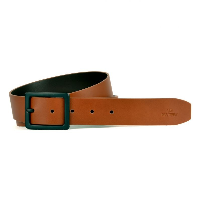 Light brown leather belt - smooth effect