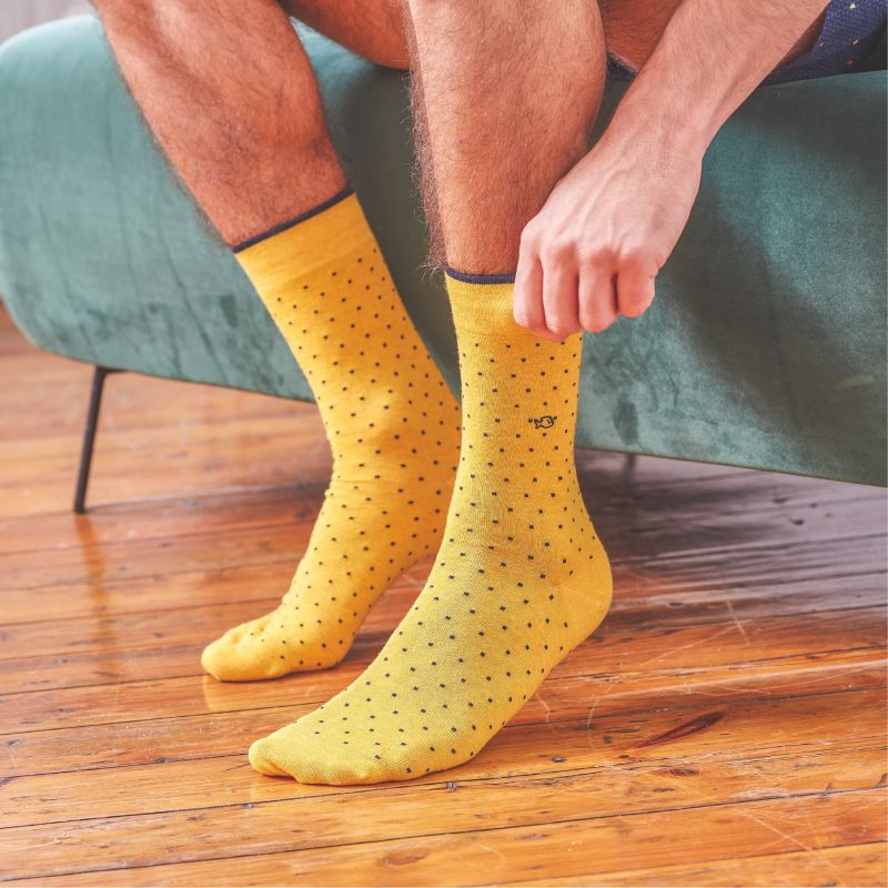 Cotton socks Mustard Square