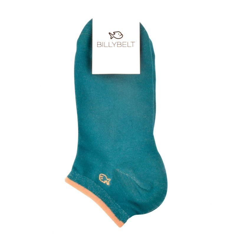 Plain Lagoon blue ankle socks