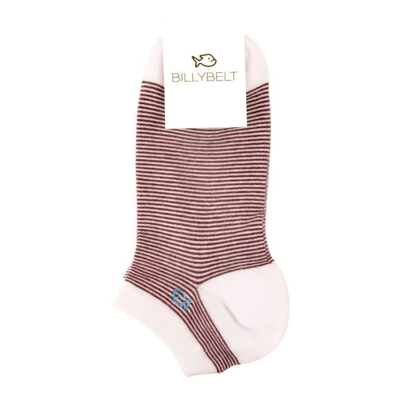 Striped purple ankle socks