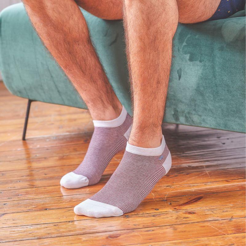 Socquettes rayées Pourpres