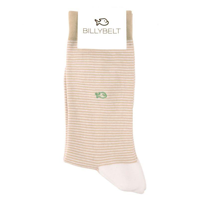 Cotton striped socks : Beige