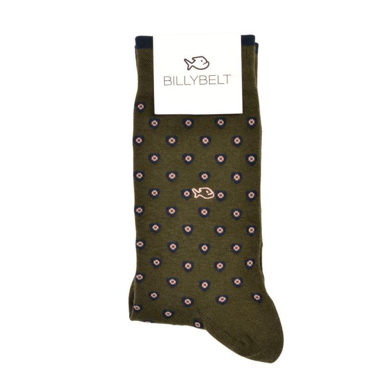 Khaki patch cotton socks