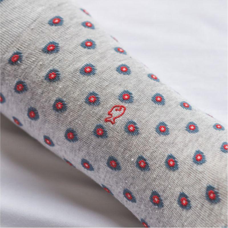 Chaussettes en coton patch Gris