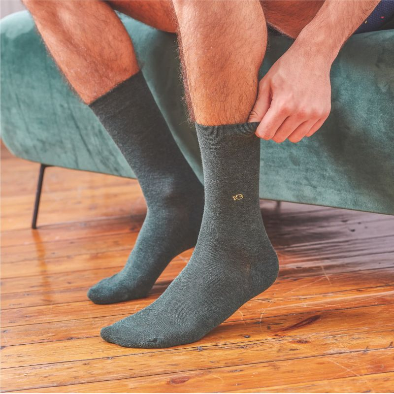 Cotton Socks Forest Green