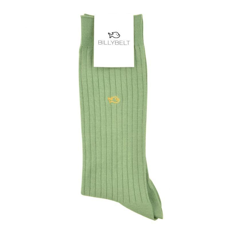 Chaussettes fil d'Écosse Vert Pâle