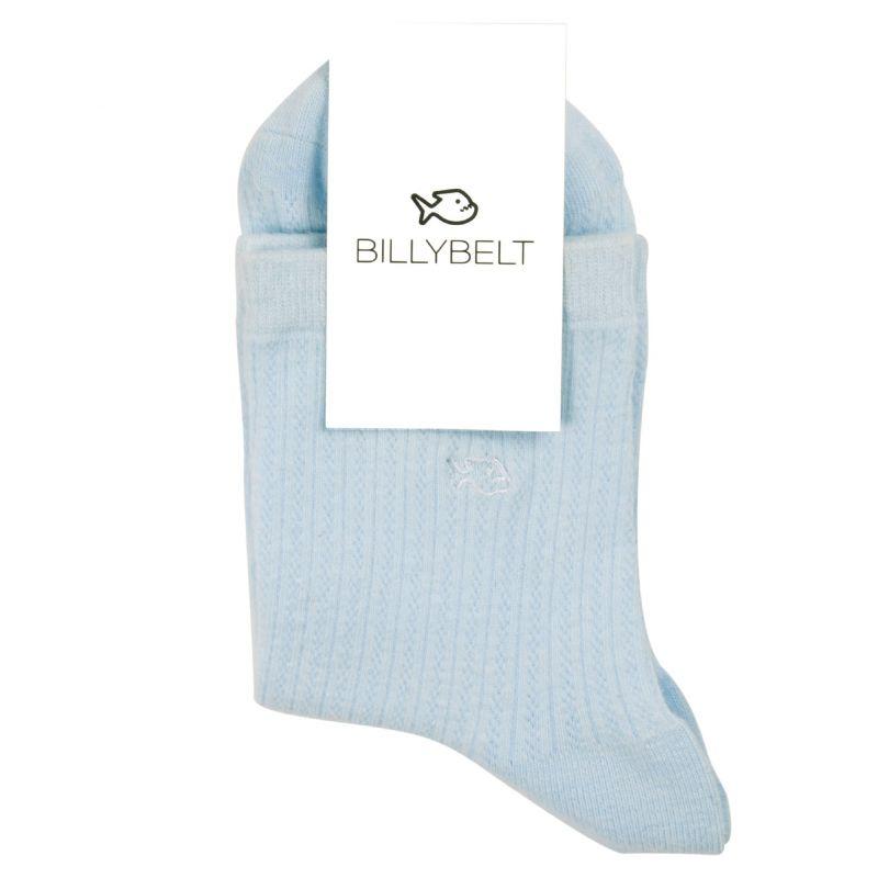 Cotton lace socks Pastel blue