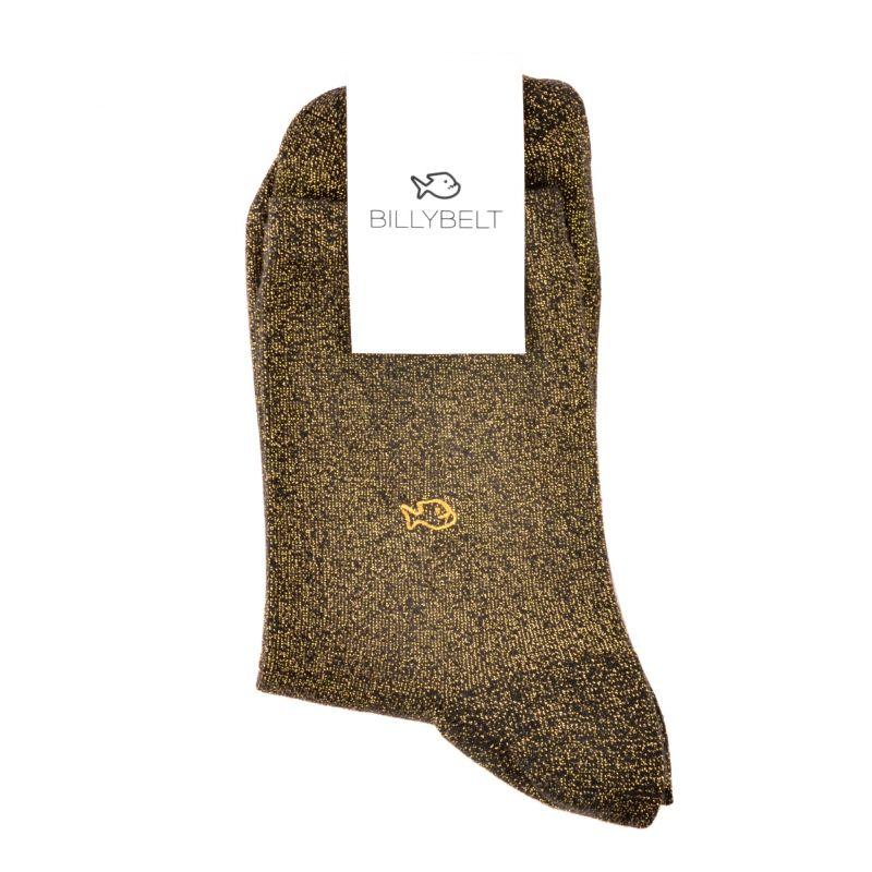 Socks cotton Glitter Mineral black