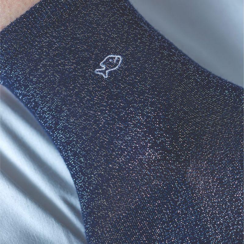 Chaussettes coton Paillettes Bleu acier