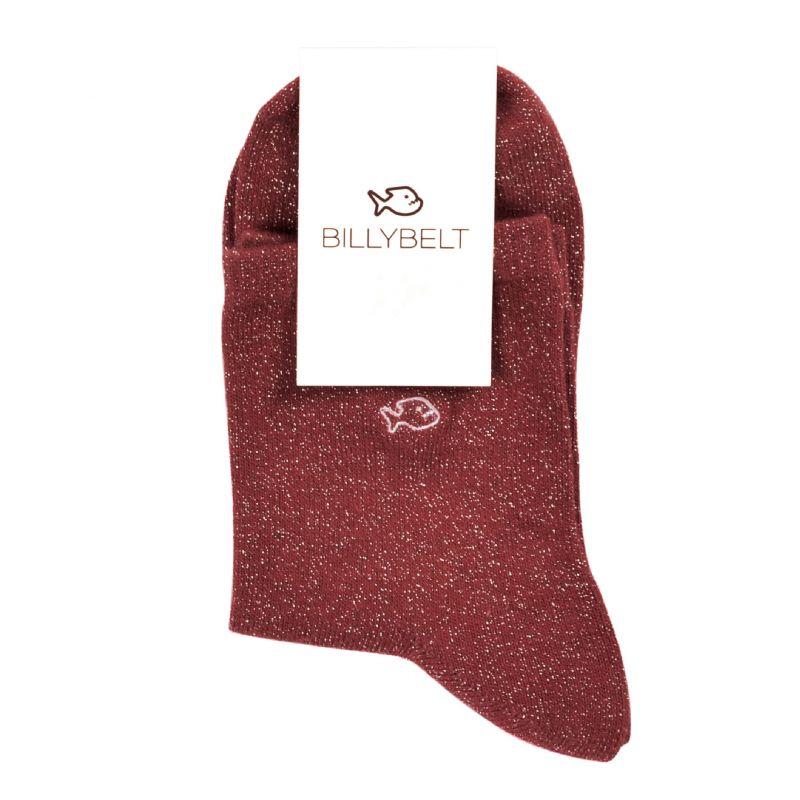 Socks cotton Glitter Burgundy
