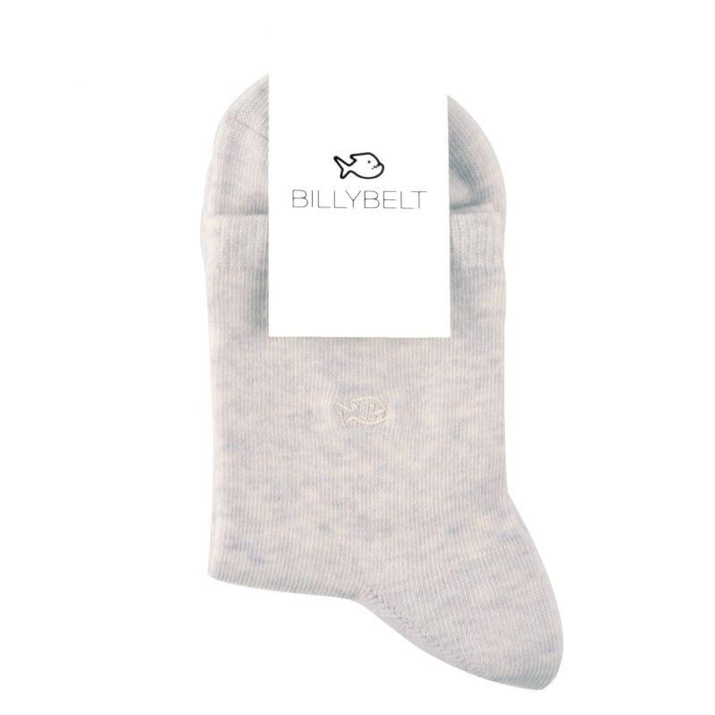 Mottled cotton socks Grey linen