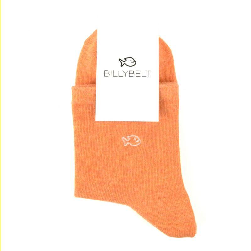 Chaussettes coton chinées Orange