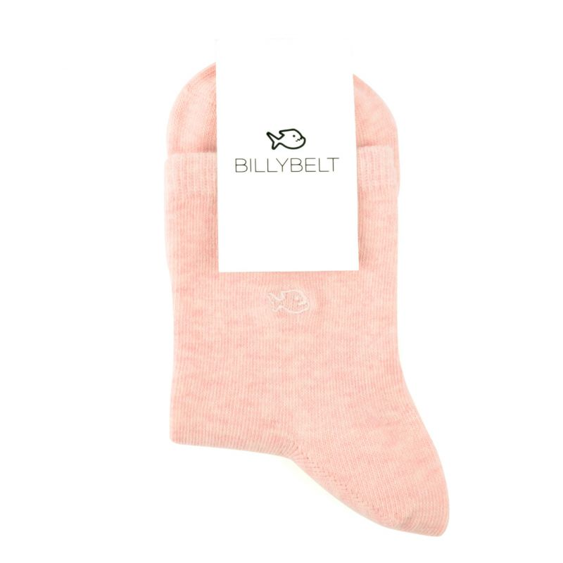 Chaussettes coton chinées Rose pastel