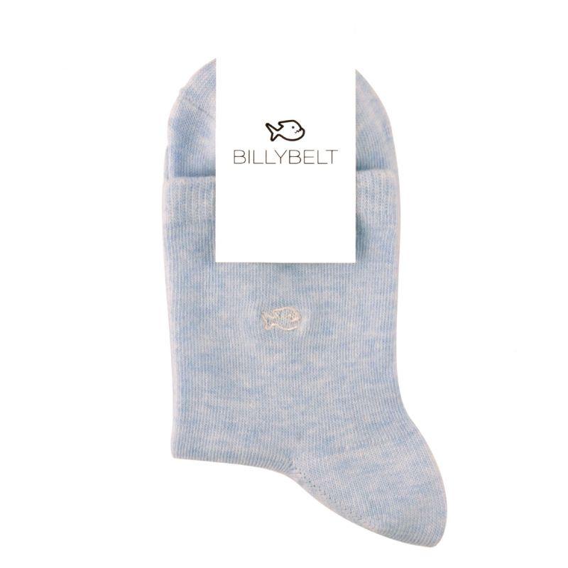 Chaussettes coton chinées Bleu pastel