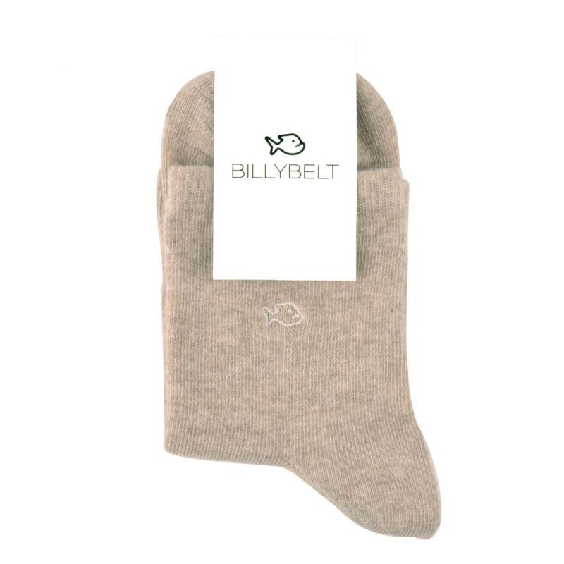 Chaussettes coton chinées Beige naturel
