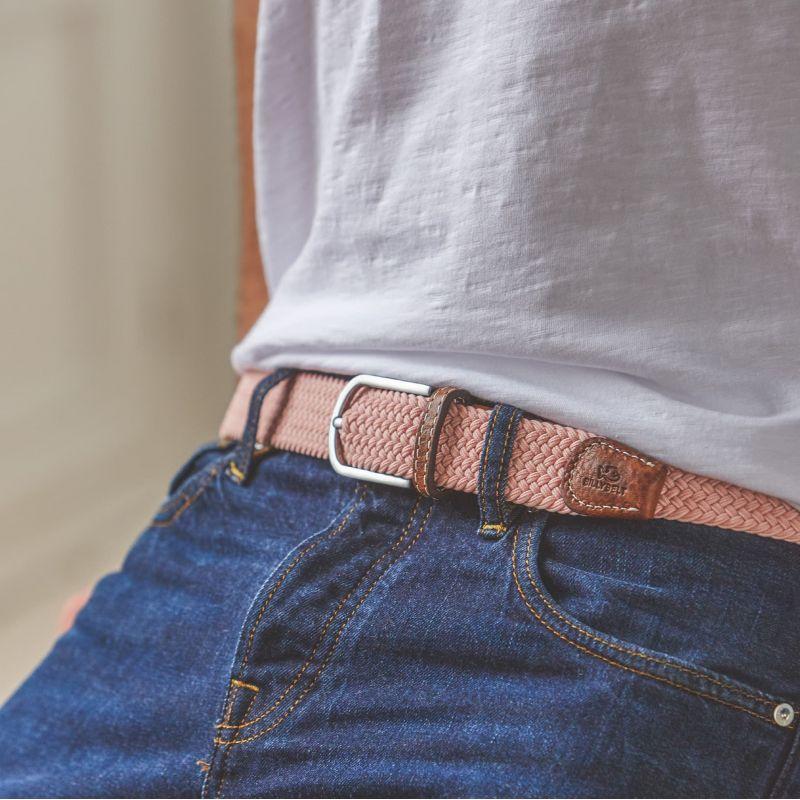 Elastic woven belt Mellow pink