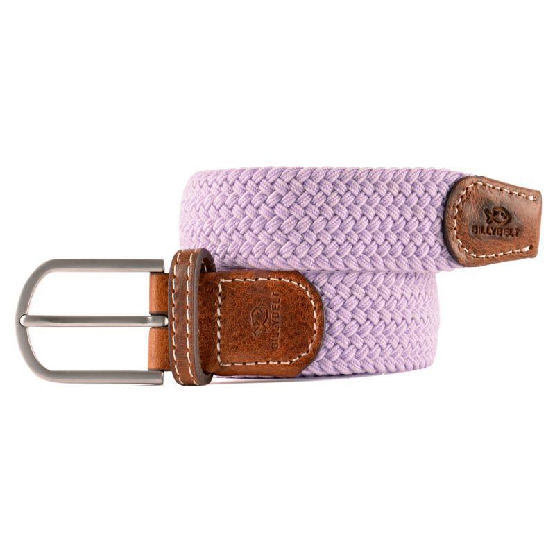 Elastic woven belt Linen grey
