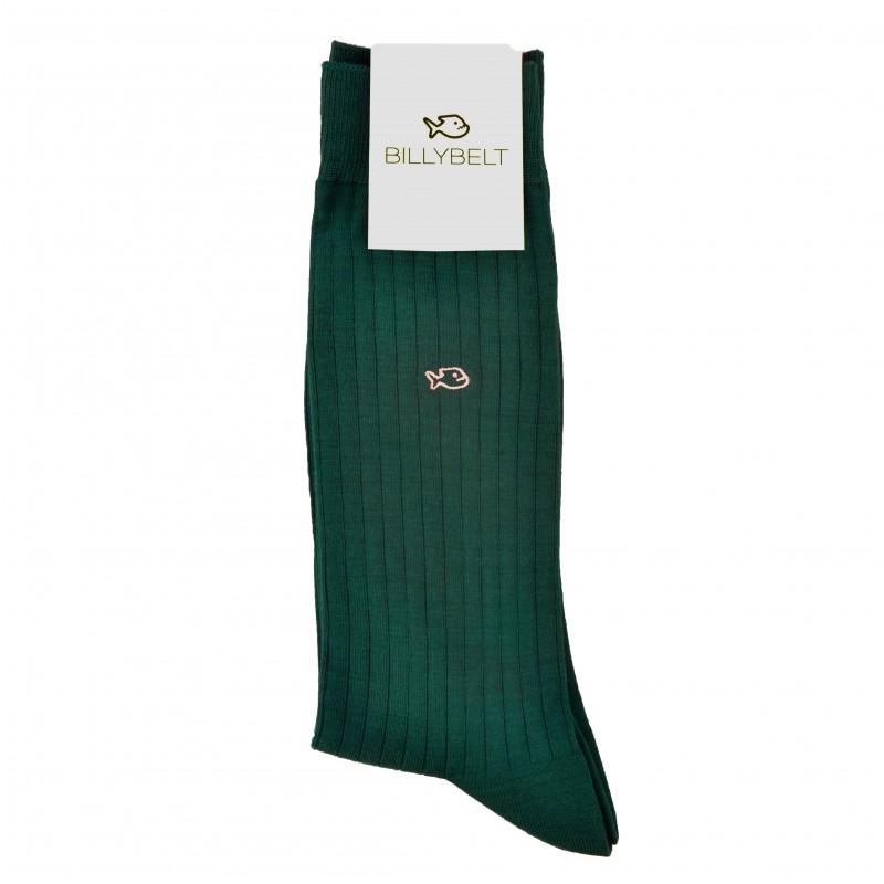 Chaussettes fil d'Écosse Vert Sultan