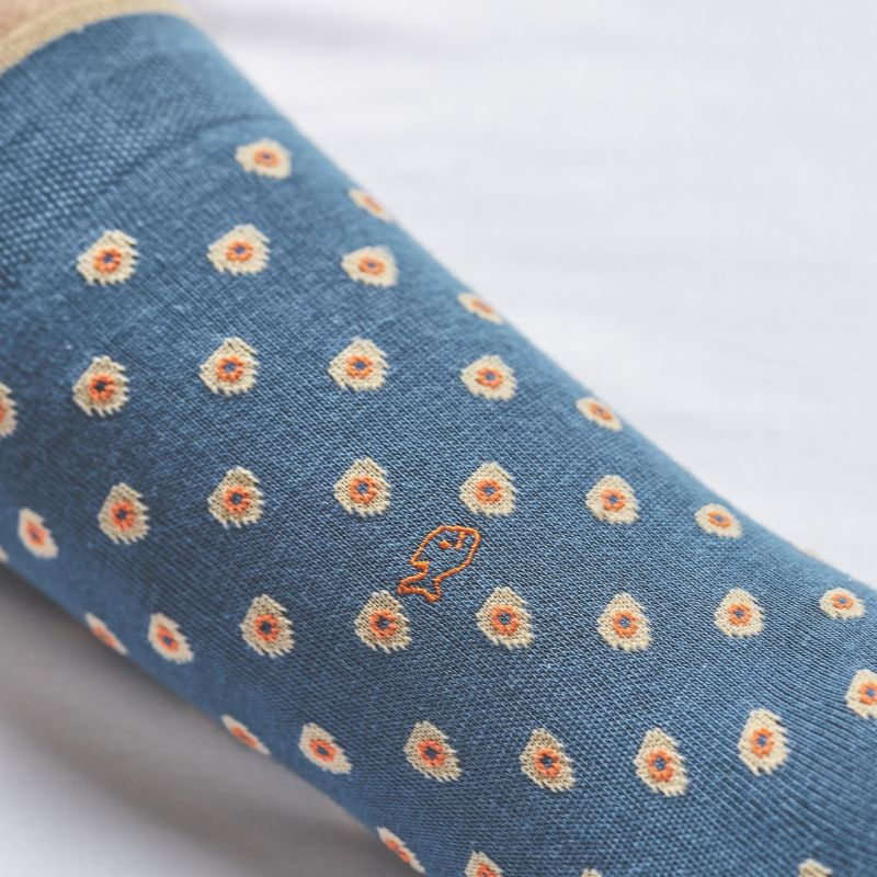 Chaussettes en coton patch Bleu