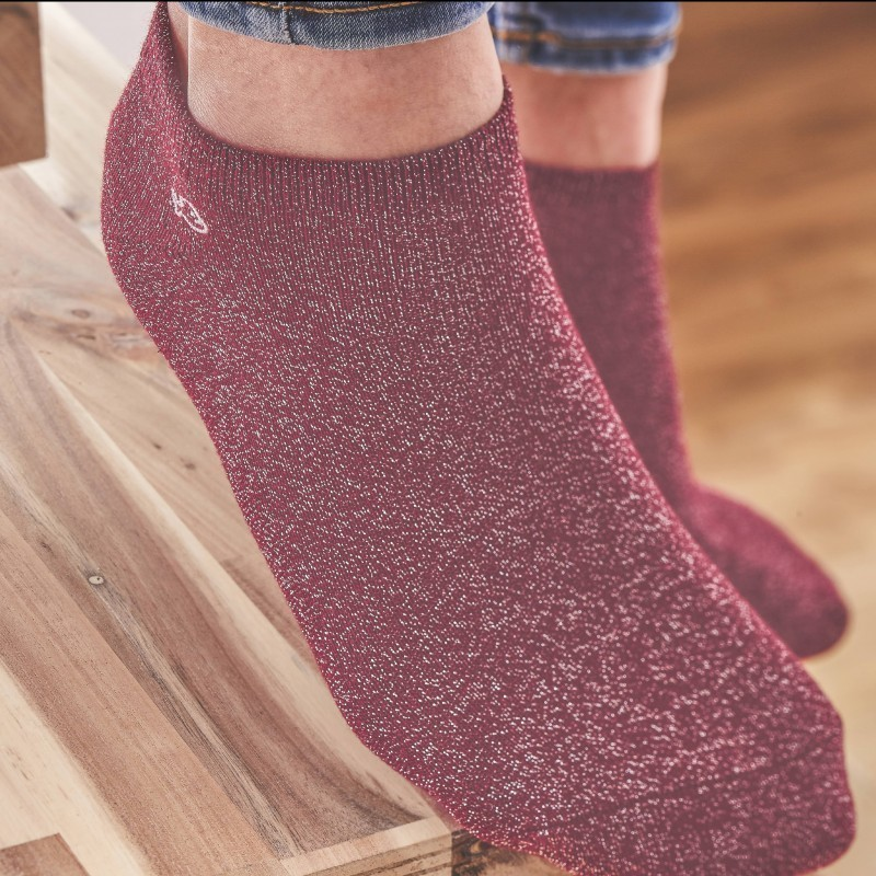 Coton ankle socks Raspberry pink