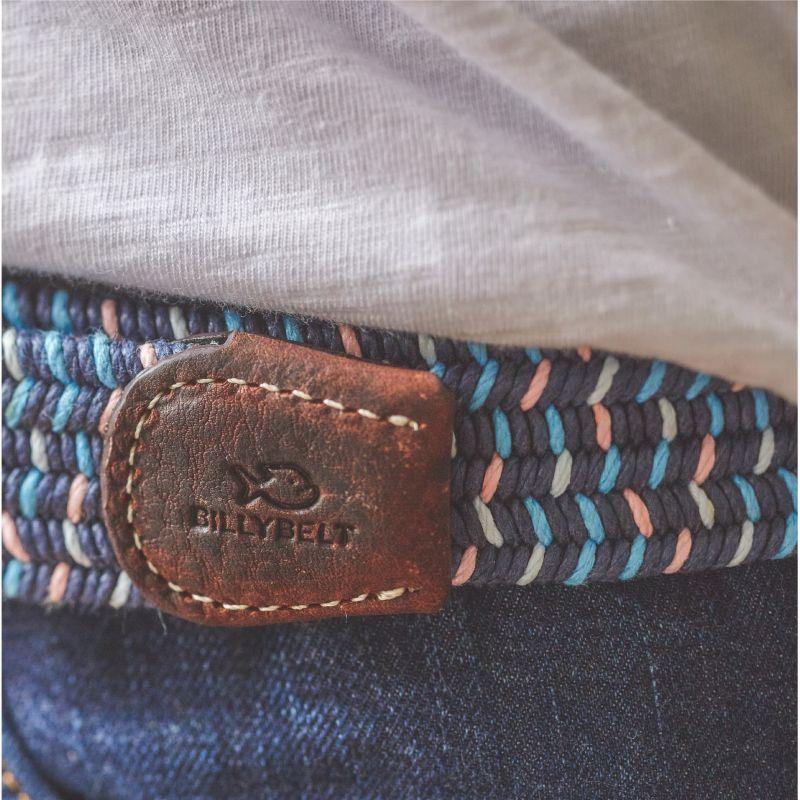 Elastic waxed cotton belt - Aden