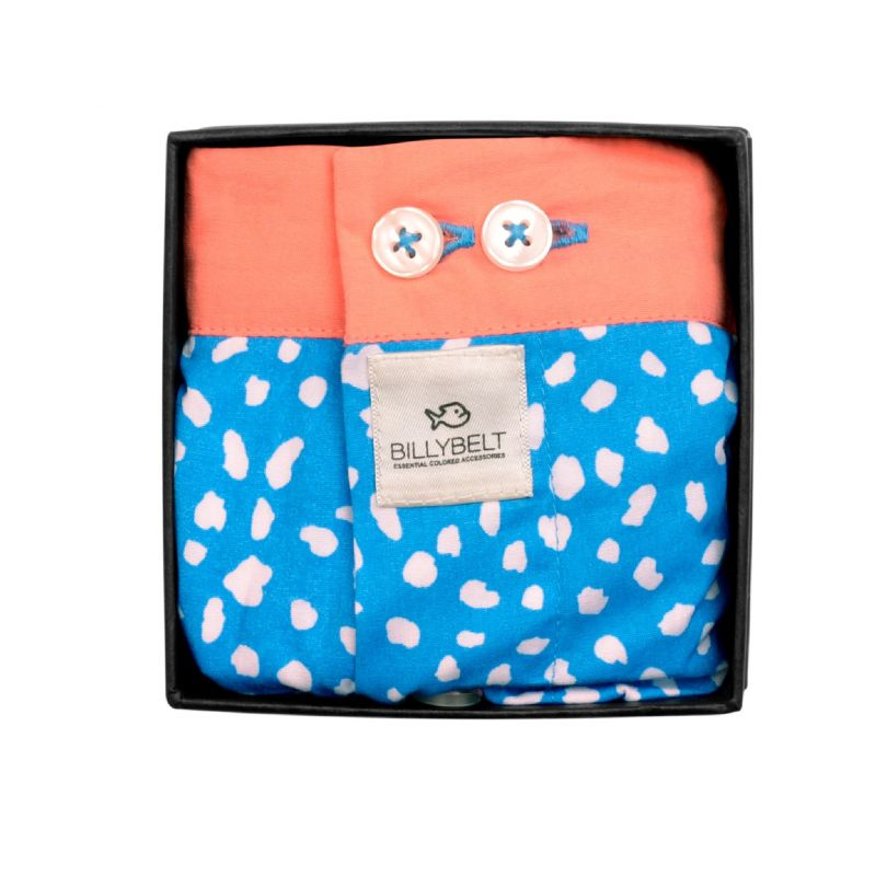 Organic cotton boxer shorts Blue panther