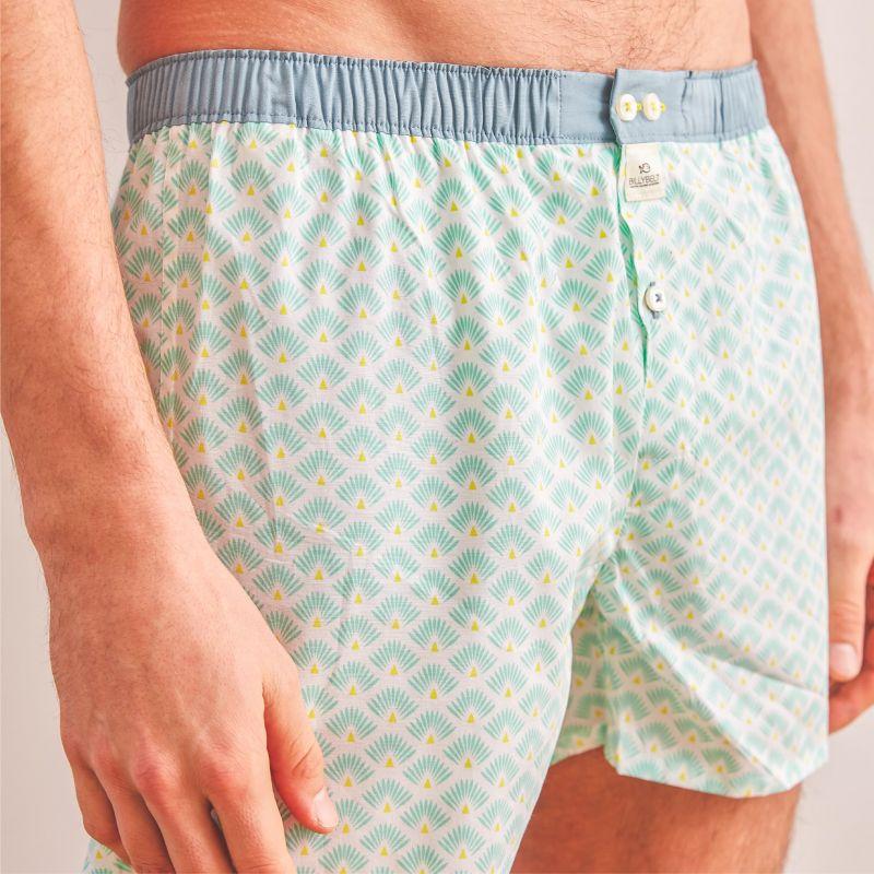 Organic cotton boxer shorts Green leon