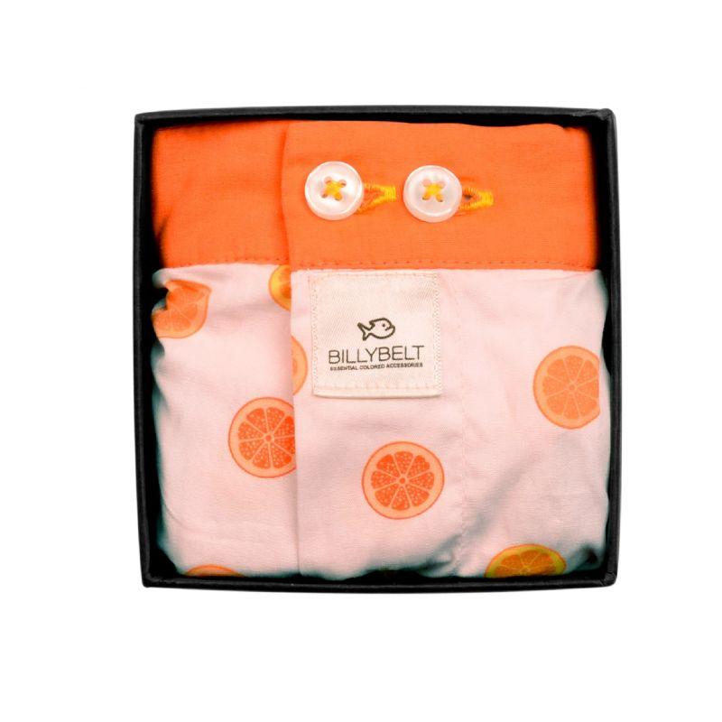 Organic cotton boxer shorts Fruity orange
