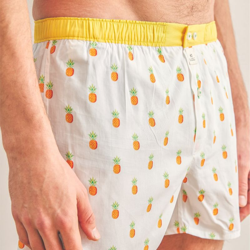 Organic cotton boxer shorts Fruity pineapple