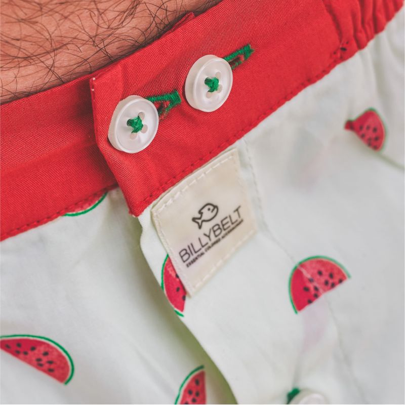 Organic cotton boxer shorts Fruity watermelon