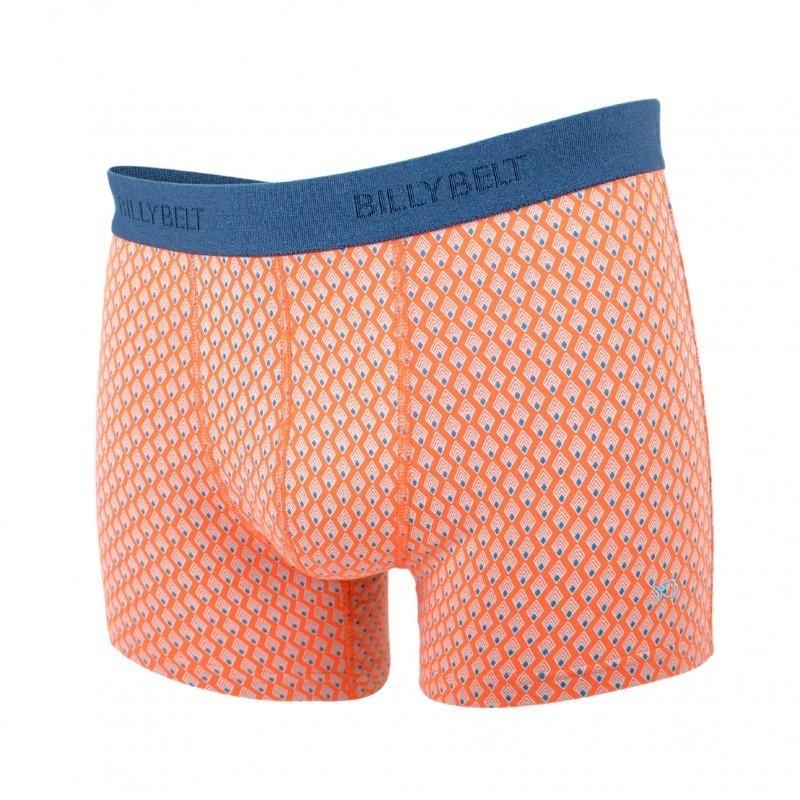 Boxer coton bio Orange aztec