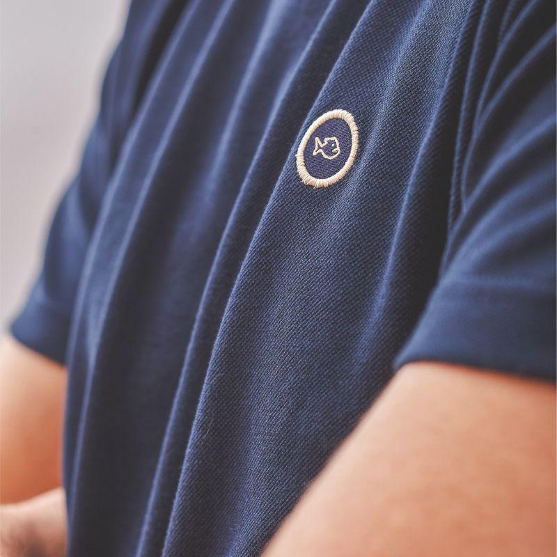 Organic cotton T-shirt knitted – navy blue – 190gr