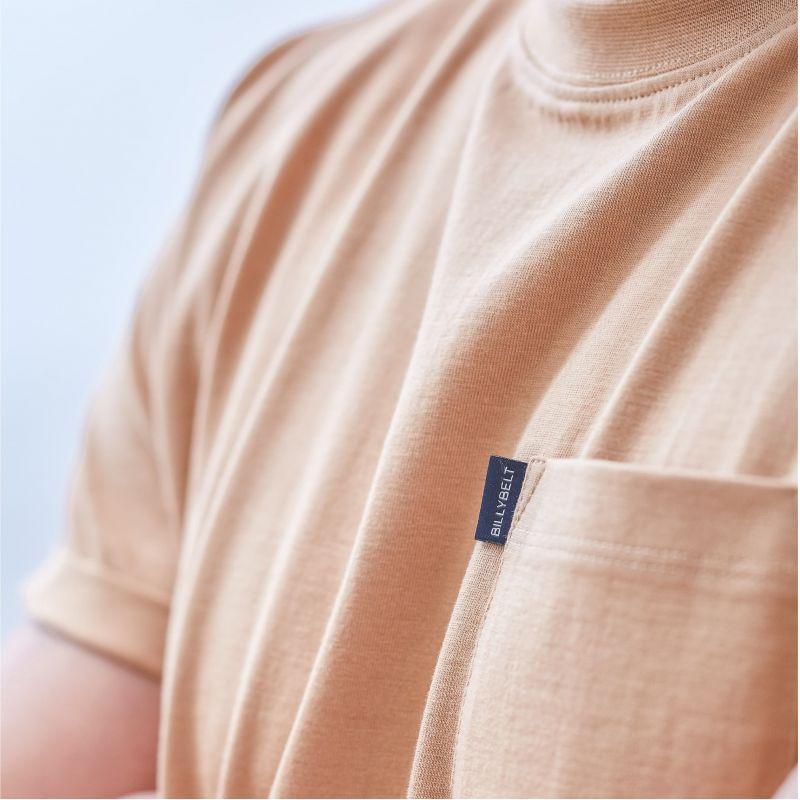 T-shirt chiné désert en coton biologique – 190gr