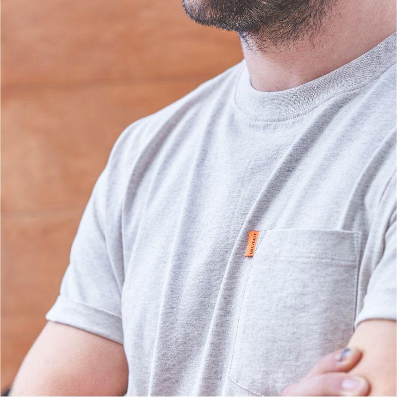 T-shirt chiné gris en coton biologique – 190gr