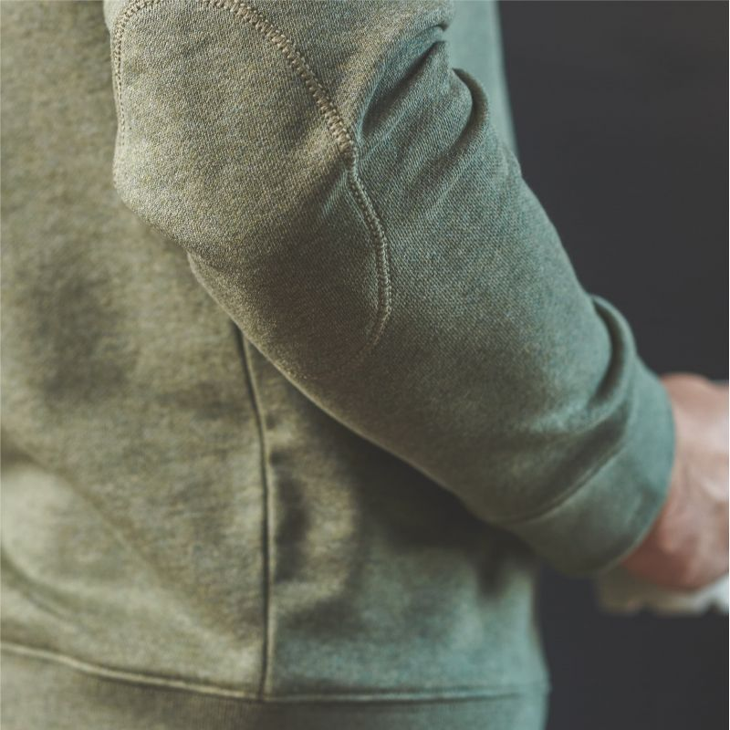 Organic cotton sweatshirt – Mottled khaki – 400 gr