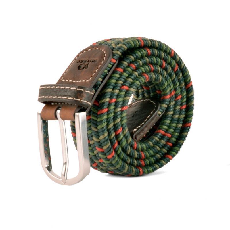 Elastic waxed cotton belt - Alboran