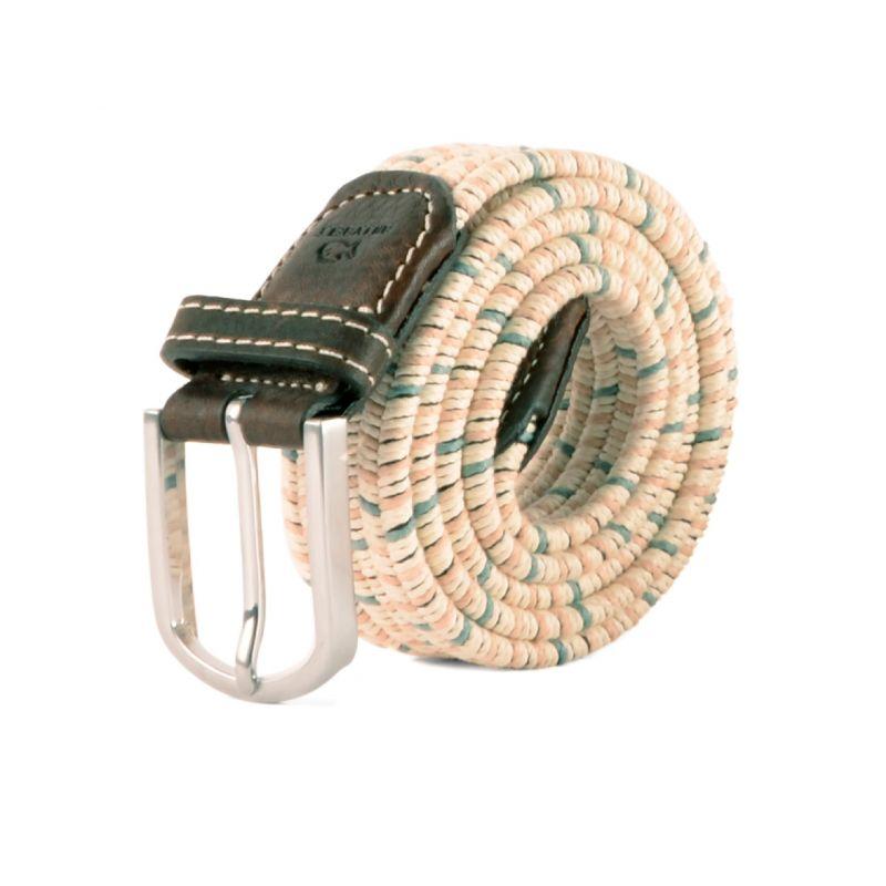 Elastic waxed cotton belt - Kara