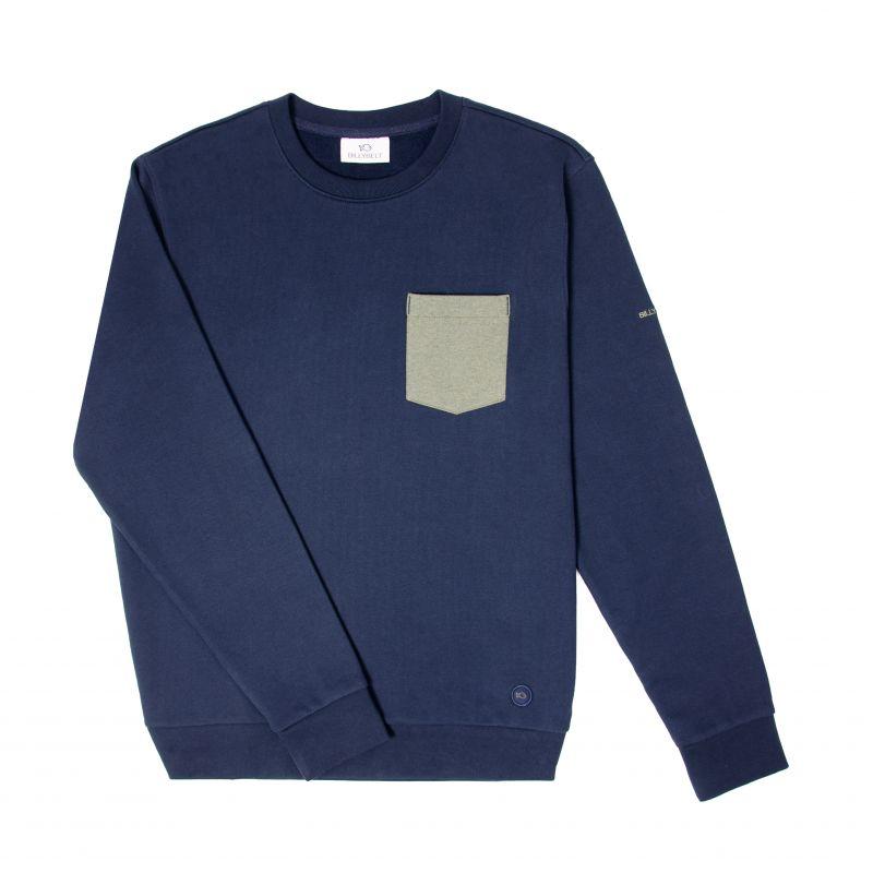 Organic cotton sweatshirt – Navy blue – 400 gr
