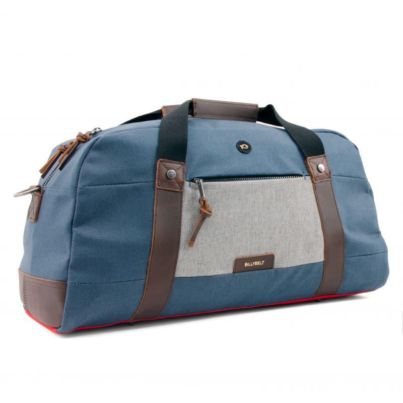Weekend bag Weekender - Navy blue and mottled grey