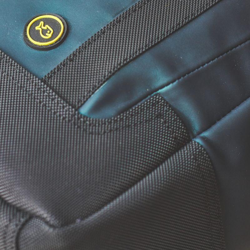 Backpack rectangular shape PU Fabric - Green shade