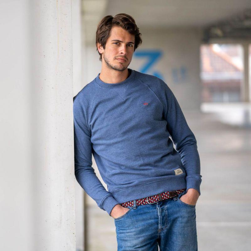Organic cotton sweatshirt – mottled blue – 400 gr