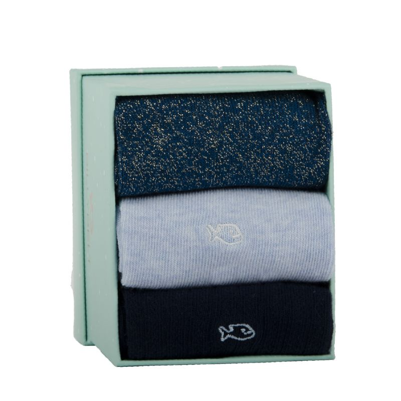 Three cotton socks gift box