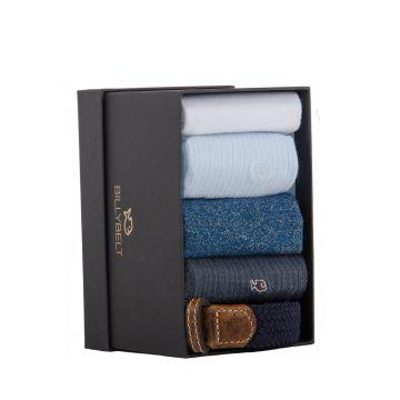 Coffret de 4 paires de chaussettes & une ceinture