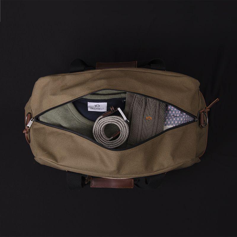 Weekend bag Weekender - Khaki and beige