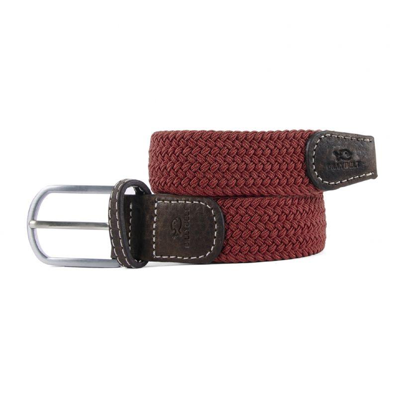 Elastic woven belt Mahogany