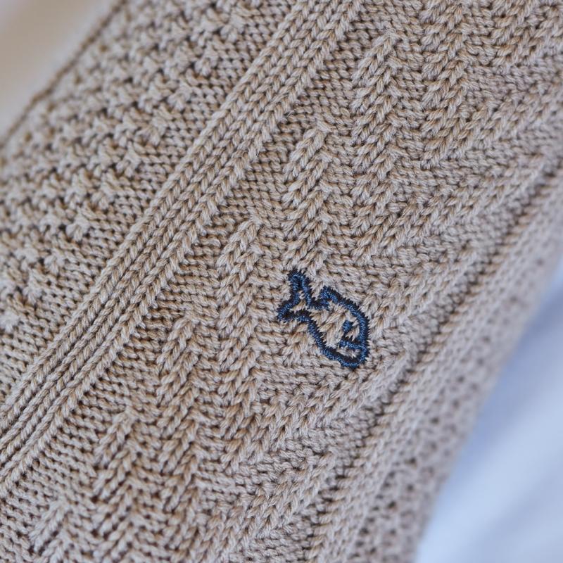 Chaussettes avec laine de Mérinos Beige