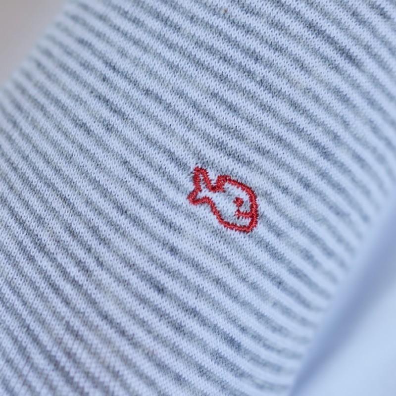 Chaussettes rayées en coton Blanc