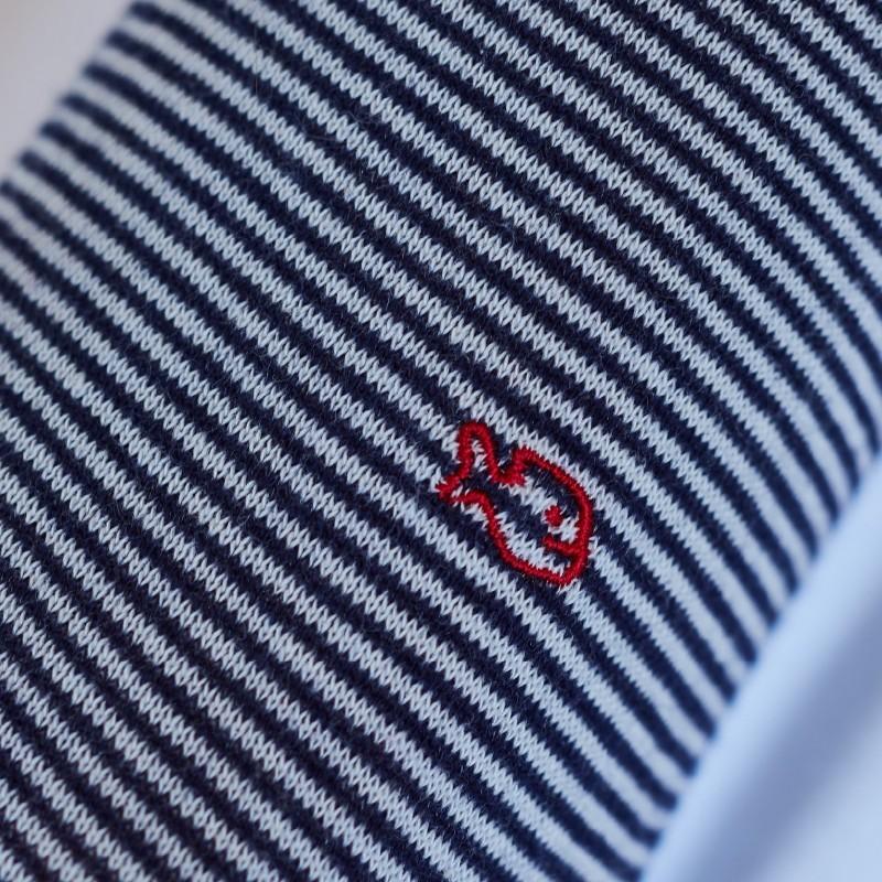 Cotton striped socks : Silver